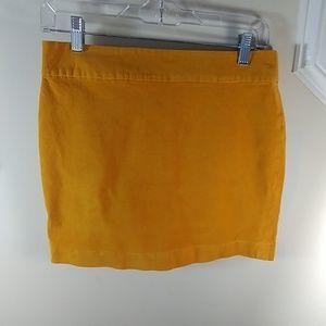 Banana republic corduroy mustard skirt.